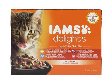 Iams Cat Delights Land & Sea Gravy 85g