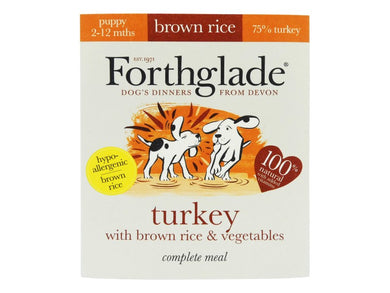 Forthglade Complete Puppy Turkey with Brown Rice & Vegetables 395g
