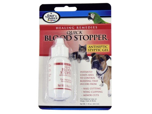 For Paws Healing Remedies Quick Blood Stopper Antiseptic Syptic Gel 1.1oz