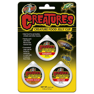 ZM Creature Food Jelly Cup 3 pack, CT-60E - Creepy Critters