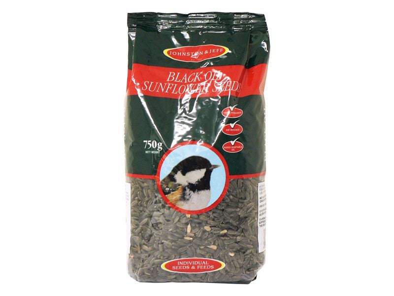 Johnston and Jeff Black Oil Sunflower Hearts 750g
