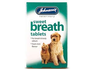 Johnsons Vet Sweet Breath for Cats/Dogs 30 Tablets