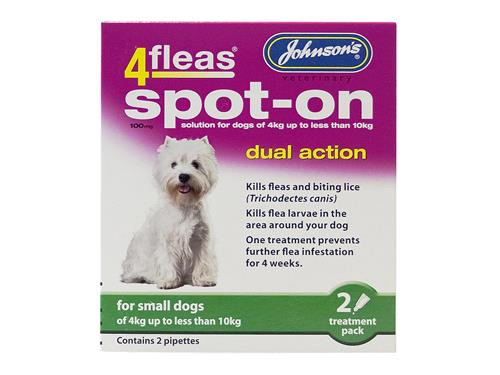 JV 4 Fleas Spot-on Small Dog 2 Pipettes