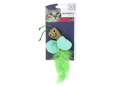 M-Pets Butterfly Canvas Feather Cat Toy