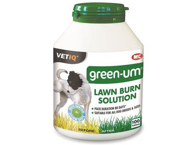 M&C VetIQ Green-UM Lawn Burn Solution 100 Tablets for Dogs