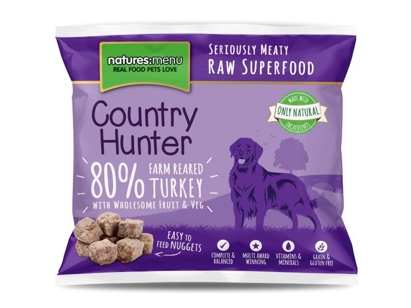 Nature's Menu Hunter Frozen Turkey Nuggets 1kg