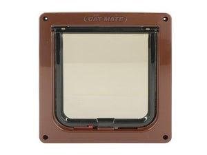 Pet Mate Catmate Lockable Cat Flap Brown