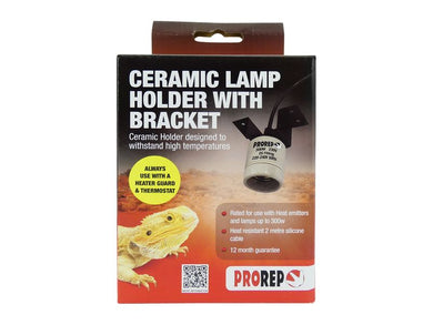 ProRep Ceramic Lamp Holder with Bracket