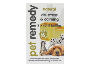 Pet Remedy Natural De-Stress & Calming Refill Bottles 2x40ml
