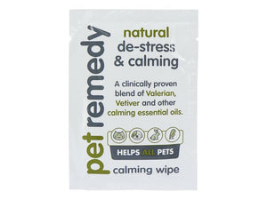 Pet Remedy Natural De-Stress & Calming Wipes 12 Sachets