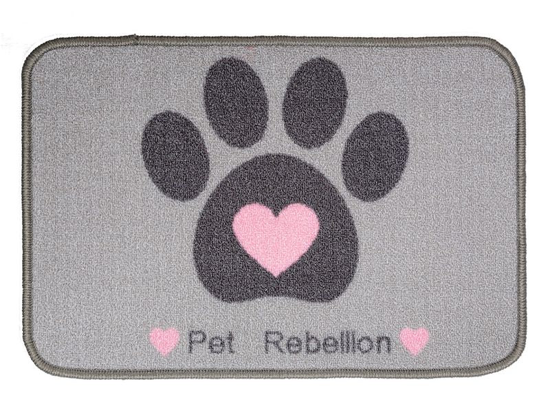 Pet Rebelion Dinner Mate Heart Absorb Food Mat 40x60cm