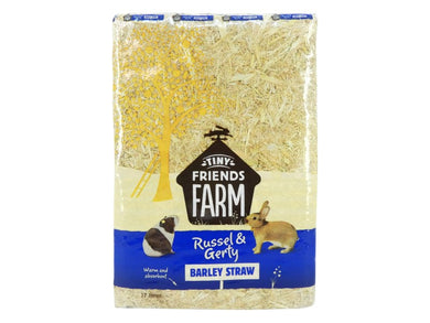 Supreme Tiny Farm Friends Russel & Gerty Natural Barleystraw 17L
