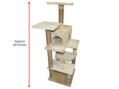 Pawise Tree and Cave Cat Scratching Post 65x55x162cm