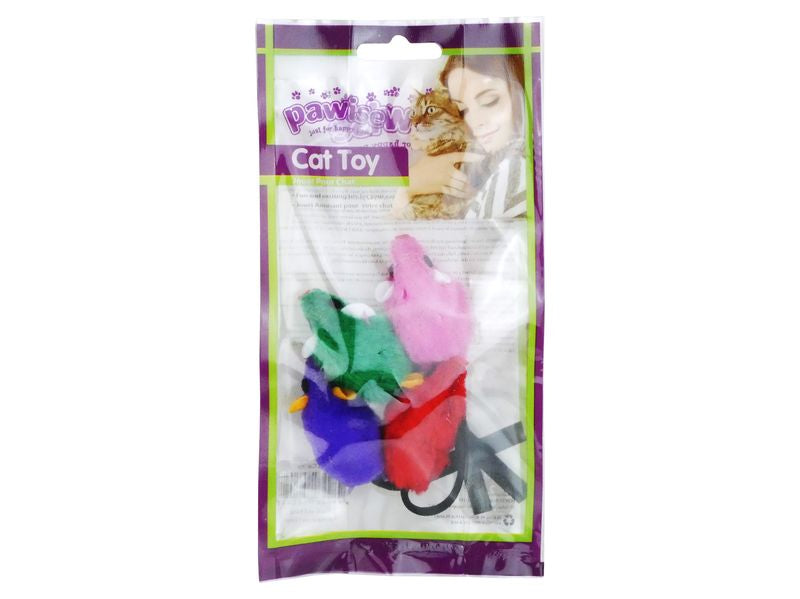 Pawise Mice Cat Toy 4pcs