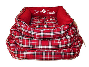 Republic of Pet Laze Red Tartan Nest