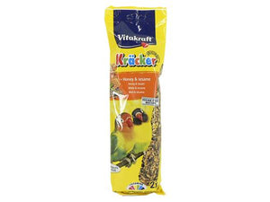 Vitakraft Kracker for Parrot/Love Birds Honey & Sesame Sticks