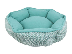 Resploot Snakeskin Hex Sofa Bed Teal 45cm