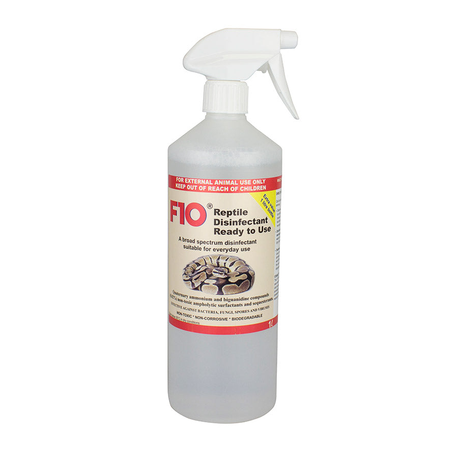 F10 REPTILE RTU Disinfectant 1 Litre Trigger - Creepy Critters