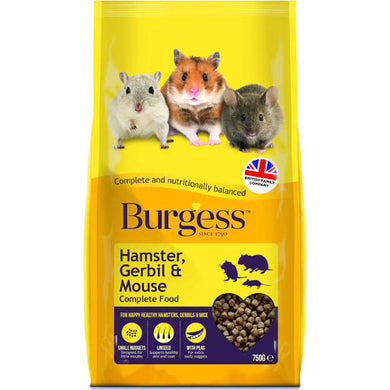 Burgess Hamster, Gerbil and Mouse Complete Food 750g d - Creepy Critters