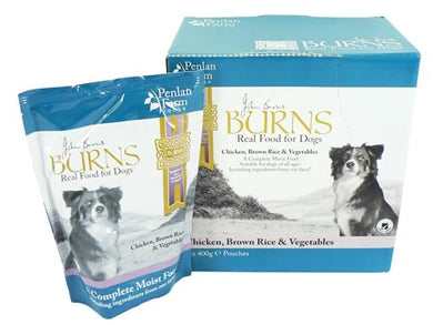 Burns Dog Penlan Chicken & Rice & Vegtables 400g 6pk