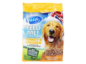 HiLife Moist Dog Turkey, Chicken & Vegetables 2kg