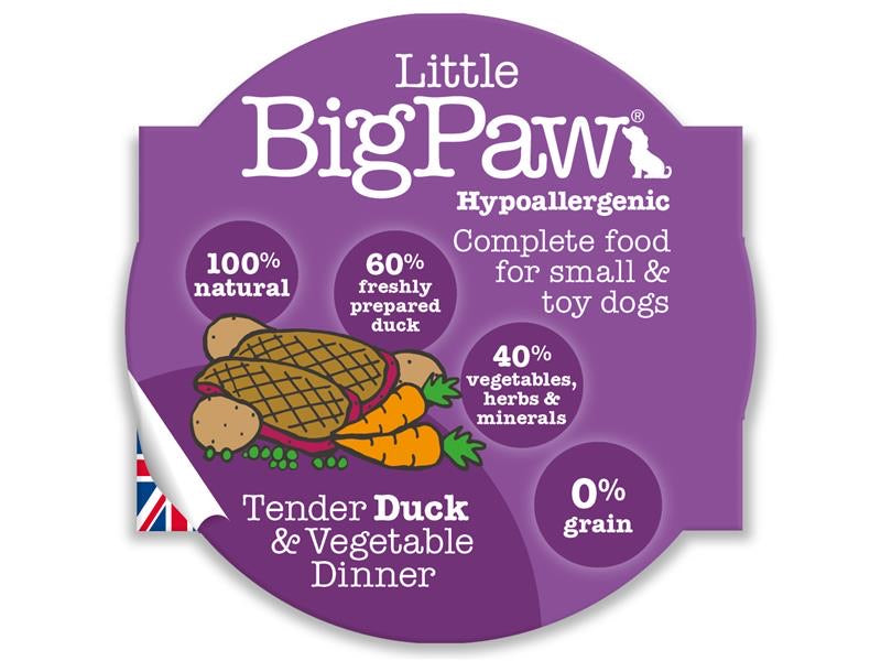 Big Paws Duck & Vegtable for Small Dog 85g