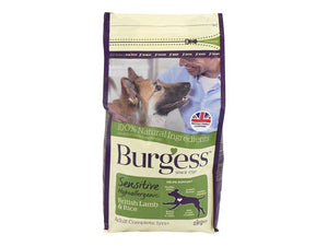 Burgess Dog Sensitive Lamb & Rice 2kg