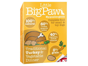 Big Paws Turkey & Vegetable for Small Dog 150g