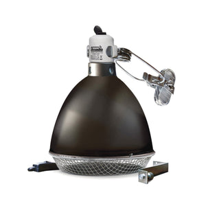 Arcadia Reflector Clamp Lamp with Ceramic Holder (E27) in Graphite