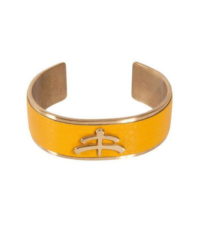 Bangle Leather and Brass