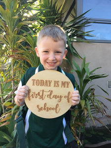 """FIRST DAY OF SCHOOL"" PLAQUE"