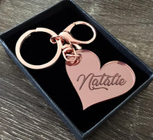 Load image into Gallery viewer, PERSONALISED KEYRING (NATALIE FONT)