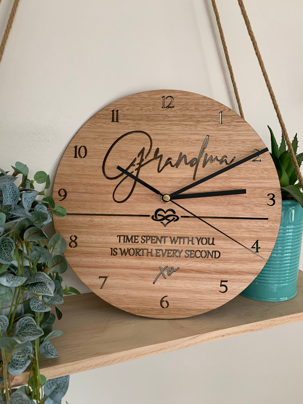 """TIME SPENT WITH YOU"" CLOCK"