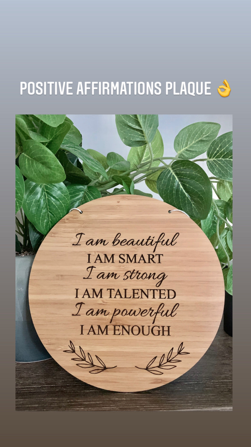 POSITIVE AFFIRMATIONS PLAQUE