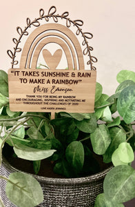 RAINBOW TEACHER APPRECIATION PLANTER STICK