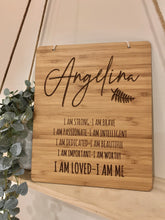 "Load image into Gallery viewer, ""I AM LOVED - I AM ME"" PLAQUE"