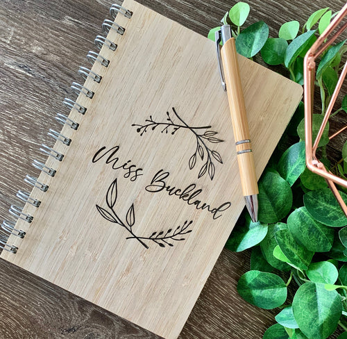 BAMBOO NOTEBOOK & PEN