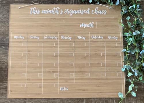 """THIS MONTH'S ORGANISED CHAOS"" FAMILY PLANNER"
