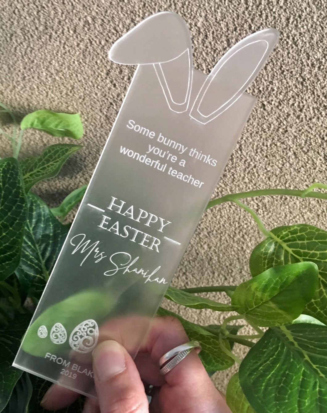 TEACHER APPRECIATION EASTER BOOKMARK