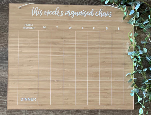 """THIS WEEK'S ORGANISED CHAOS"" FAMILY PLANNER"