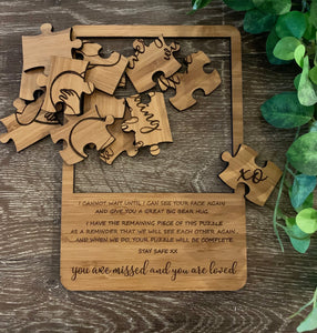 """YOU ARE MISSED AND YOU ARE LOVED"" PUZZLE"