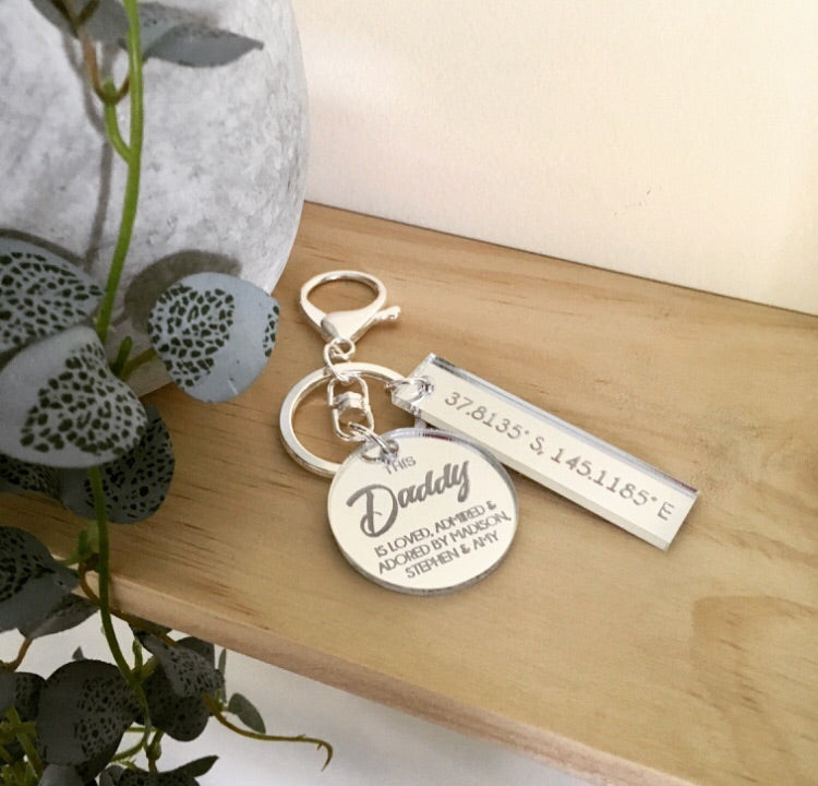 """LOVED, ADMIRED & ADORED"" KEYRING"