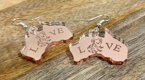 AUSTRALIAN THEMED EARRINGS - BUSHFIRE SUPPORT FUNDRAISER