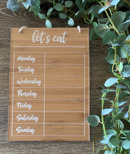 """LET'S EAT"" FAMILY PLANNER"