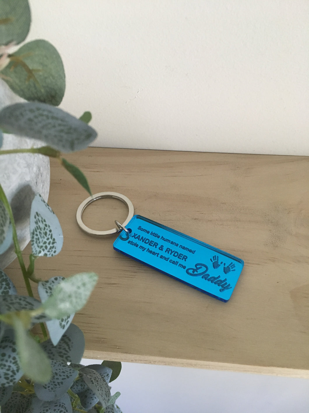"""SOME LITTLE HUMANS STOLE MY HEART"" KEYRING"