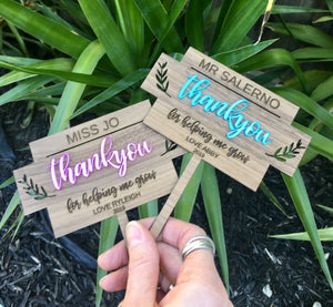 TEACHER APPRECIATION PLANTER STICK