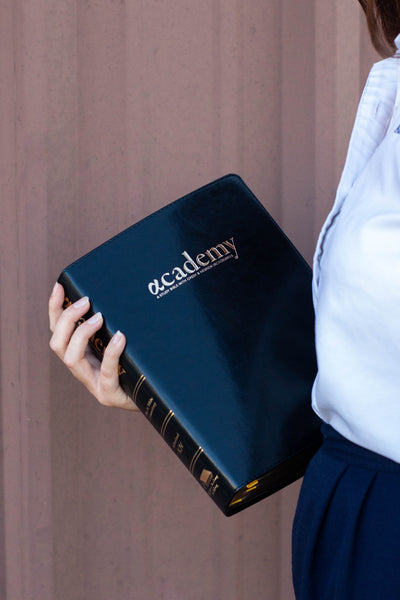 The Academy Study Bible - Onyx Black Edition
