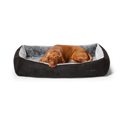 Snuggler Black Suede - Dog Beds For You