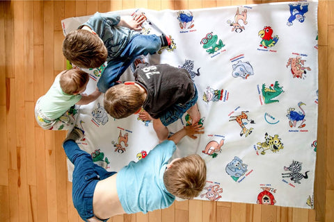 Twister nappe bimoo tablecloth