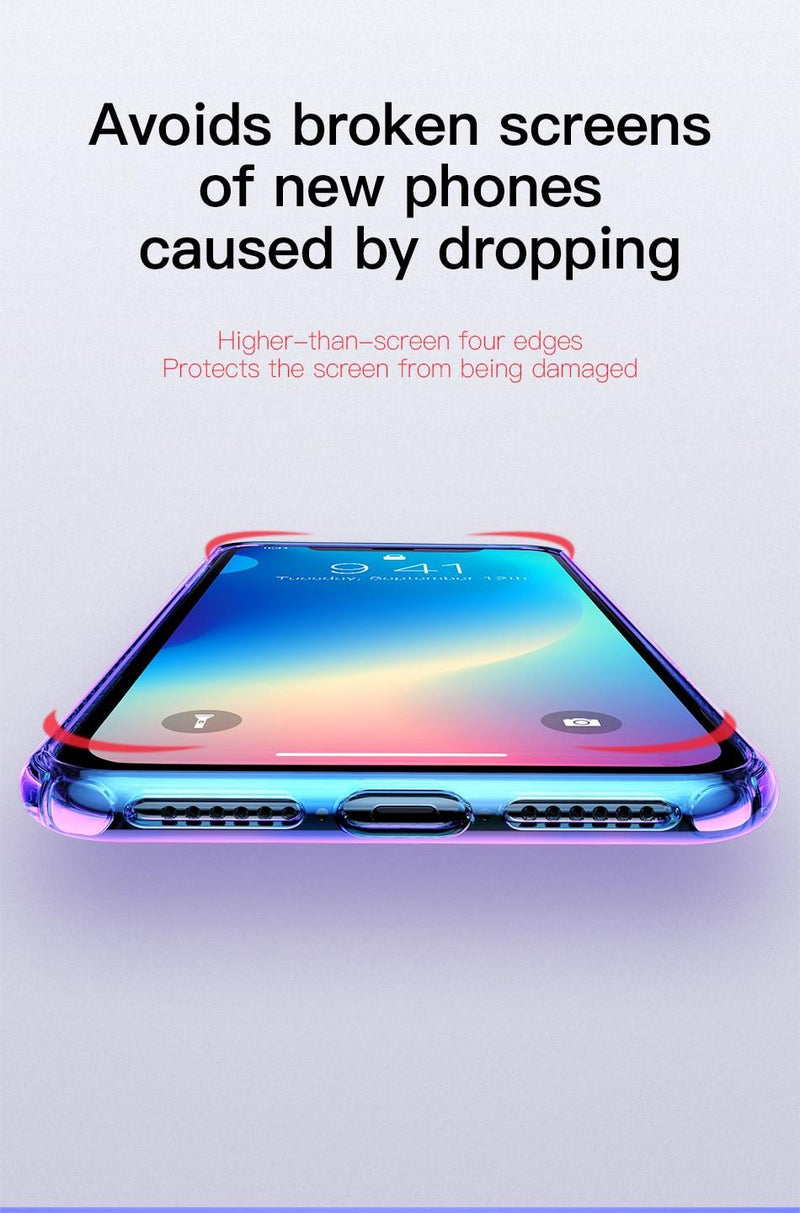 Baseus Apple iPhone XS MAX Colorful Airbags Silikon Kılıf MAVİ , imonya